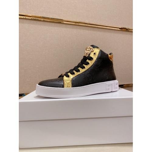 Versace High Tops Shoes For Men #812376 $80.00 USD, Wholesale Replica Versace High Tops Shoes