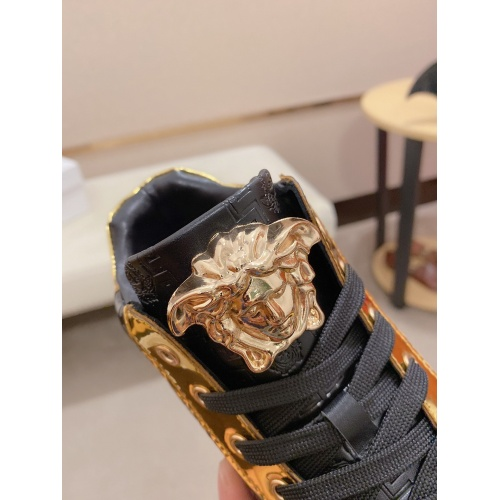 Replica Versace High Tops Shoes For Men #812376 $80.00 USD for Wholesale