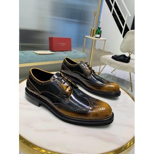 Ferragamo Salvatore FS Leather Shoes For Men #812400