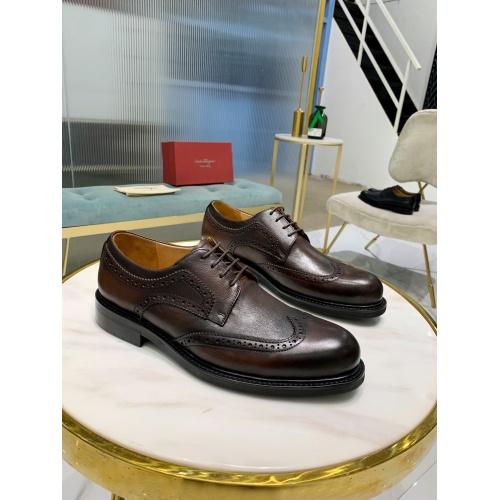 Ferragamo Salvatore FS Leather Shoes For Men #812402