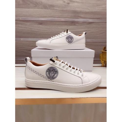Versace Casual Shoes For Men #812530 $76.00, Wholesale Replica Versace Casual Shoes