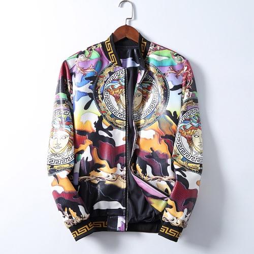 Versace Jackets Long Sleeved Zipper For Men #812616