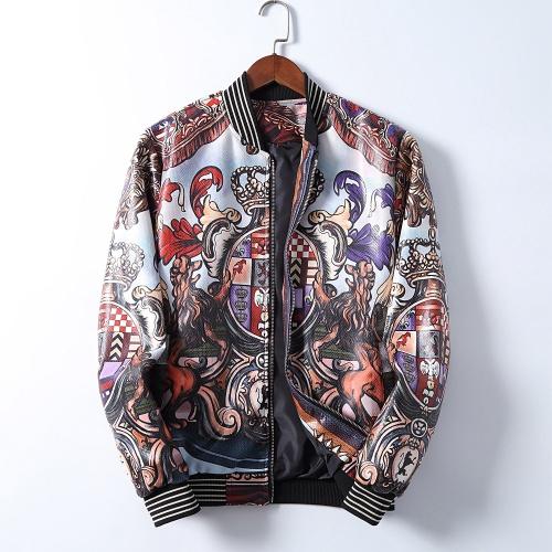 Dolce & Gabbana D&G Jackets Long Sleeved Zipper For Men #812617 $68.00 USD, Wholesale Replica Dolce & Gabbana D&G Jackets