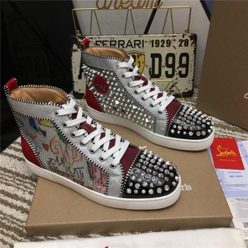 Christian Louboutin High Tops Shoes For Women #812837 $92.00 USD, Wholesale Replica Christian Louboutin High Tops Shoes