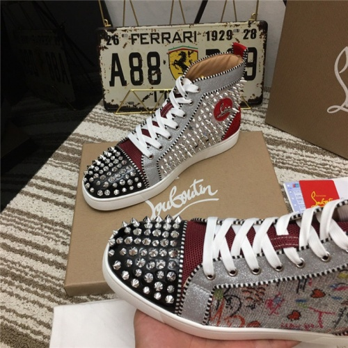 Replica Christian Louboutin High Tops Shoes For Women #812837 $92.00 USD for Wholesale