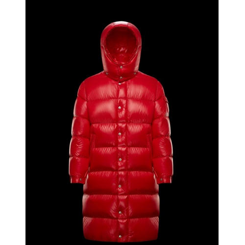 Moncler Down Feather Coat Long Sleeved Zipper For Men #813256