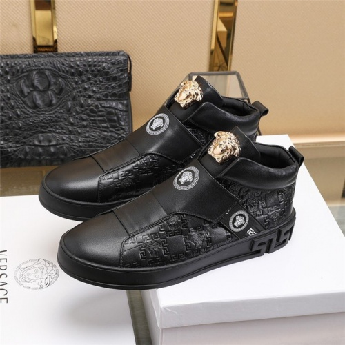 Replica Versace High Tops Shoes For Men #813345 $85.00 USD for Wholesale