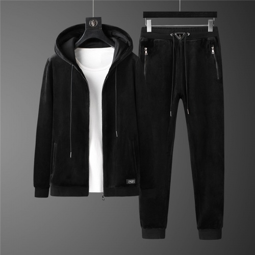 Prada Tracksuits Long Sleeved Zipper For Men #813450