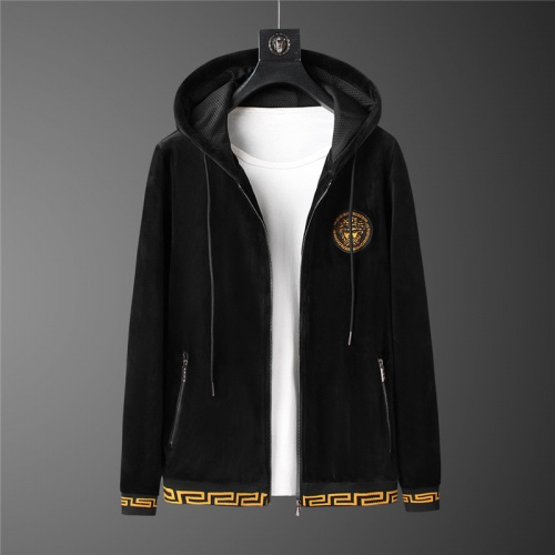 Replica Versace Tracksuits Long Sleeved Zipper For Men #813451 $98.00 USD for Wholesale