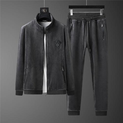 Versace Tracksuits Long Sleeved Zipper For Men #813455