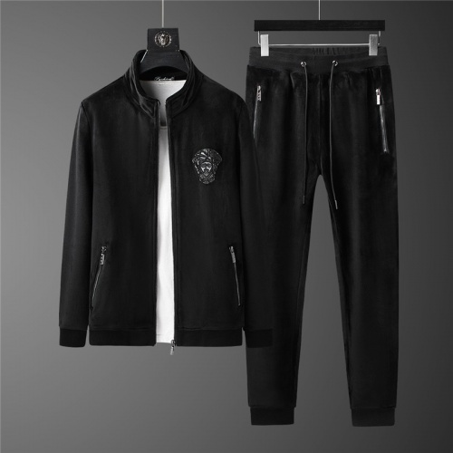 Versace Tracksuits Long Sleeved Zipper For Men #813456