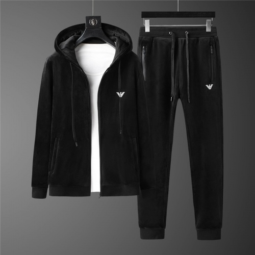 Armani Tracksuits Long Sleeved Zipper For Men #813457
