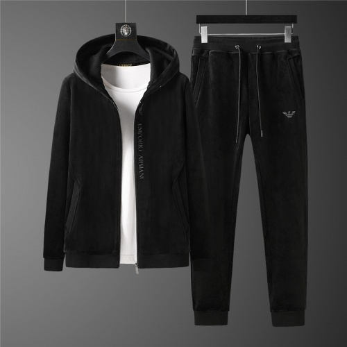 Armani Tracksuits Long Sleeved Zipper For Men #813468