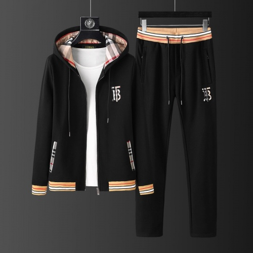 Burberry Tracksuits Long Sleeved Zipper For Men #813475