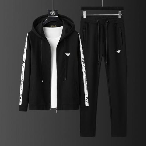 Armani Tracksuits Long Sleeved Zipper For Men #813480
