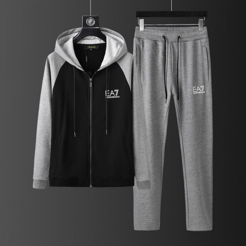 Armani Tracksuits Long Sleeved Zipper For Men #813481