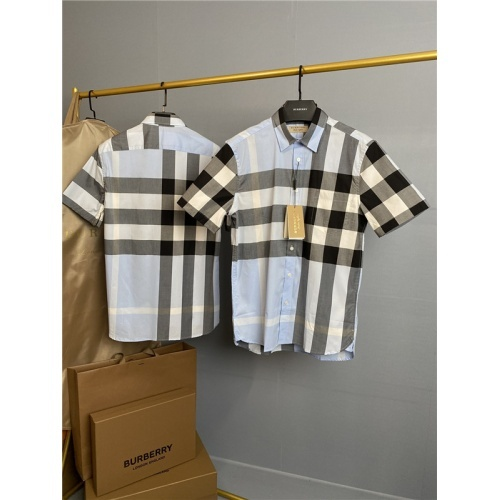 Burberry Shirts Short Sleeved Polo For Men #813577