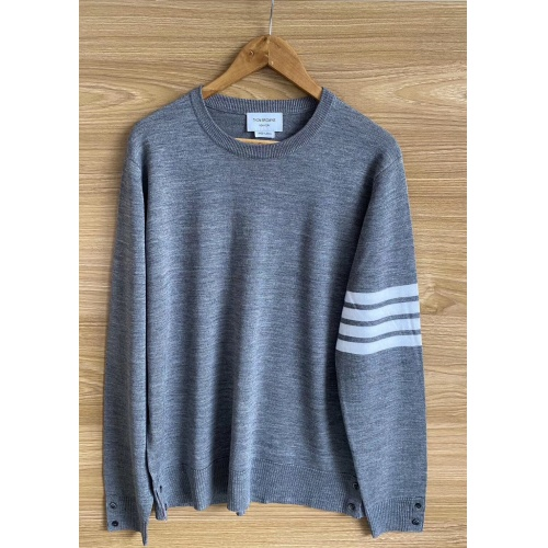 Thom Browne TB Sweaters Long Sleeved O-Neck For Men #813588 $60.00, Wholesale Replica Thom Browne TB Sweaters