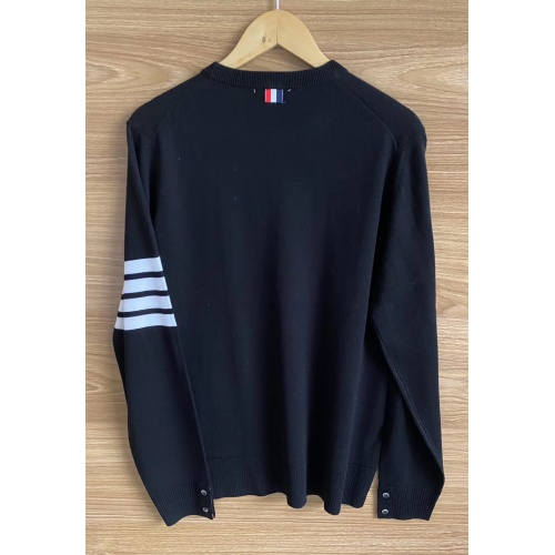 Replica Thom Browne TB Sweaters Long Sleeved O-Neck For Men #813589 $60.00 USD for Wholesale