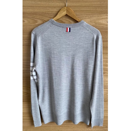 Replica Thom Browne TB Sweaters Long Sleeved O-Neck For Men #813590 $60.00 USD for Wholesale