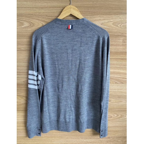 Replica Thom Browne TB Sweaters Long Sleeved O-Neck For Men #813592 $68.00 USD for Wholesale