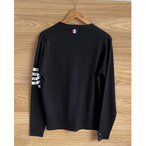 Replica Thom Browne TB Sweaters Long Sleeved O-Neck For Men #813593 $68.00 USD for Wholesale