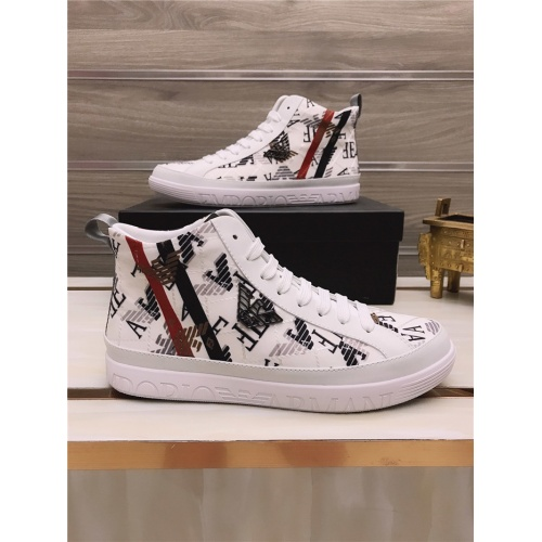 Armani High Tops Shoes For Men #813696