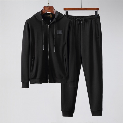 Dolce & Gabbana D&G Tracksuits Long Sleeved Zipper For Men #813808