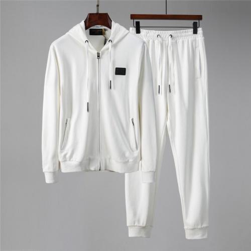 Dolce & Gabbana D&G Tracksuits Long Sleeved Zipper For Men #813809