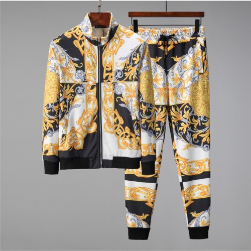Versace Tracksuits Long Sleeved Zipper For Men #813812 $88.00 USD, Wholesale Replica Versace Tracksuits