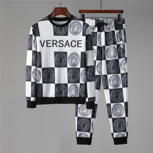 Versace Tracksuits Long Sleeved O-Neck For Men #813814 $85.00 USD, Wholesale Replica Versace Tracksuits