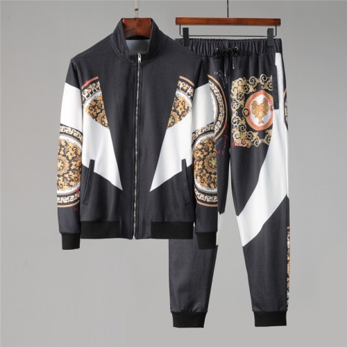 Versace Tracksuits Long Sleeved Zipper For Men #813815 $88.00 USD, Wholesale Replica Versace Tracksuits