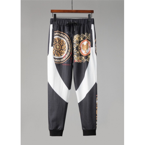 Replica Versace Tracksuits Long Sleeved Zipper For Men #813815 $88.00 USD for Wholesale