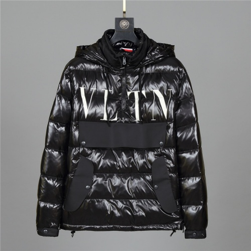 Moncler & Valentino Down Feather Coat Long Sleeved Zipper For Men #813881