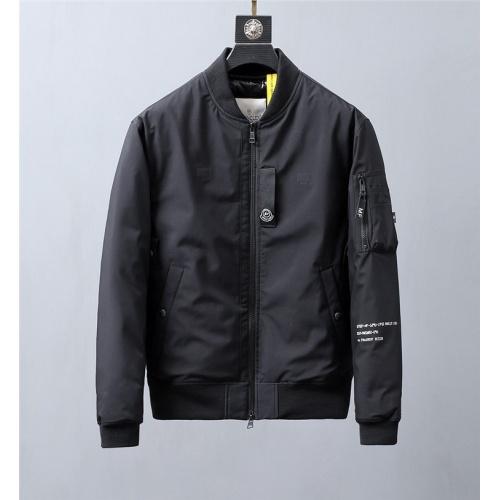 Moncler Down Feather Coat Long Sleeved Zipper For Men #813888