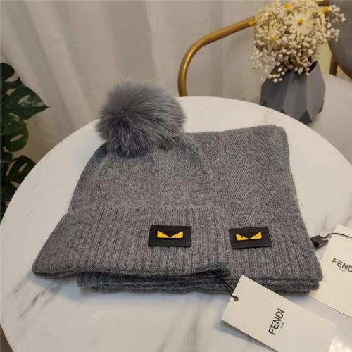 Fendi Scarf & Hat Set #813975