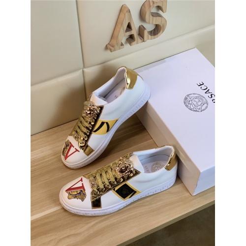 Versace Casual Shoes For Men #814070 $72.00 USD, Wholesale Replica Versace Casual Shoes