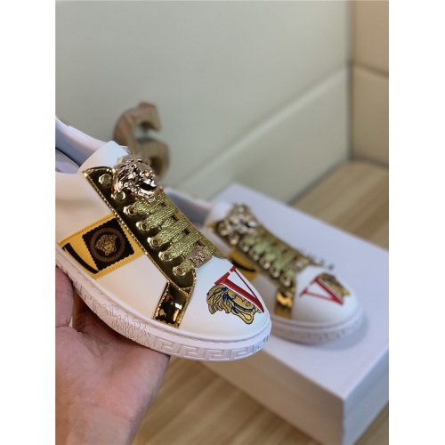 Replica Versace Casual Shoes For Men #814070 $72.00 USD for Wholesale