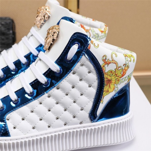 Replica Versace High Tops Shoes For Men #814079 $82.00 USD for Wholesale