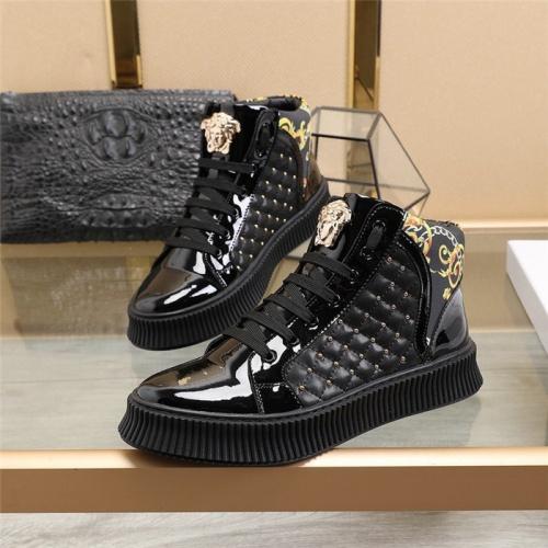 Versace High Tops Shoes For Men #814083 $82.00 USD, Wholesale Replica Versace High Tops Shoes