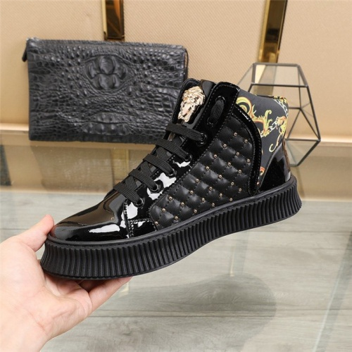 Replica Versace High Tops Shoes For Men #814083 $82.00 USD for Wholesale