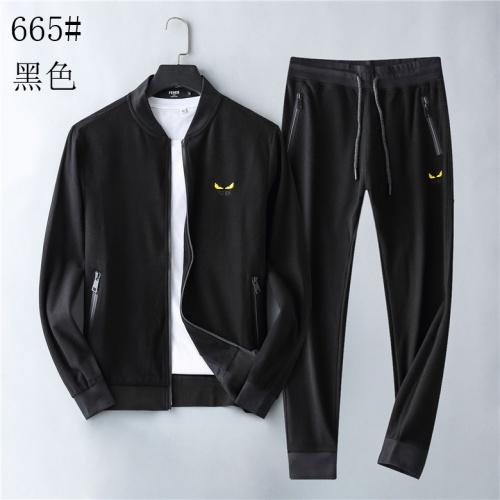 Fendi Tracksuits Long Sleeved Zipper For Men #814108