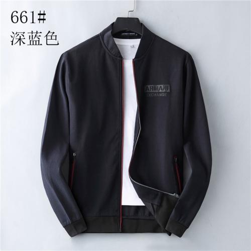 Armani Jackets Long Sleeved Zipper For Men #814114