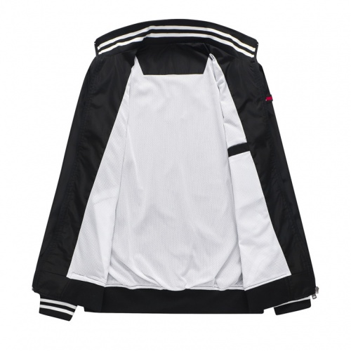 Replica Thom Browne Jackets Long Sleeved Zipper For Men #814117 $38.00 USD for Wholesale