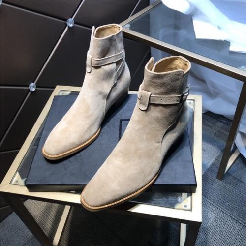 Yves Saint Laurent Boots For Men #814241 $105.00 USD, Wholesale Replica Yves Saint Laurent Boots