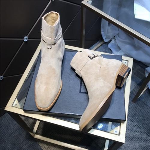 Replica Yves Saint Laurent Boots For Men #814241 $105.00 USD for Wholesale