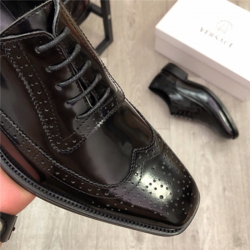 Replica Versace Leather Shoes For Men #814274 $98.00 USD for Wholesale