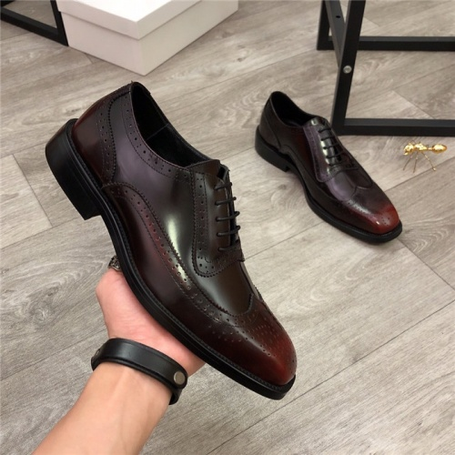 Versace Leather Shoes For Men #814275