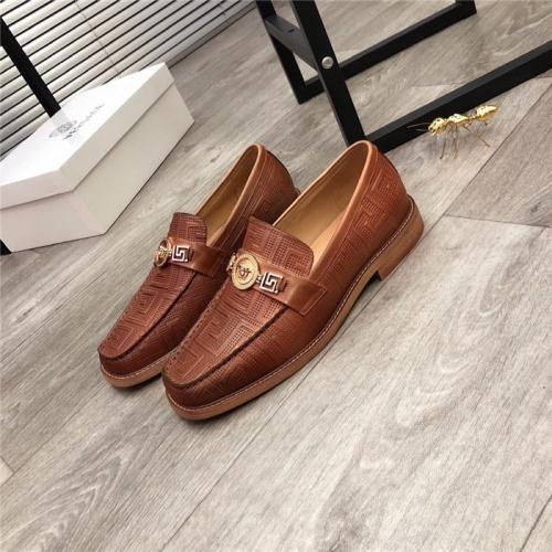 Versace Leather Shoes For Men #814276 $100.00, Wholesale Replica Versace Leather Shoes