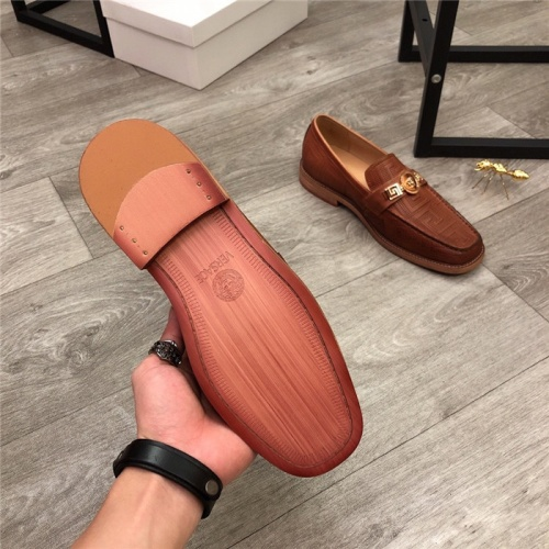 Replica Versace Leather Shoes For Men #814276 $100.00 USD for Wholesale